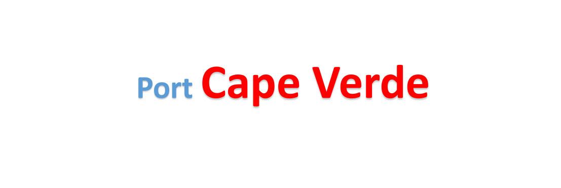 Cape Verde container sea port