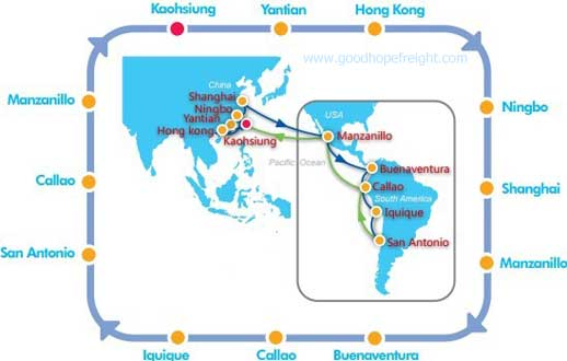 cosco sailing schedule point to point wsa