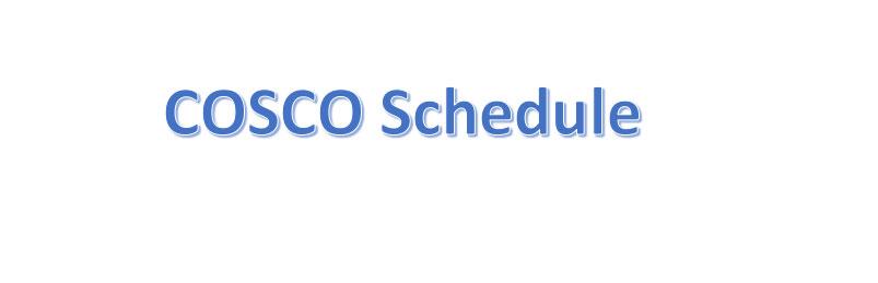 cosco schedule