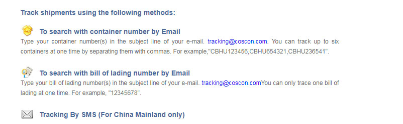 cosco shipping tracking