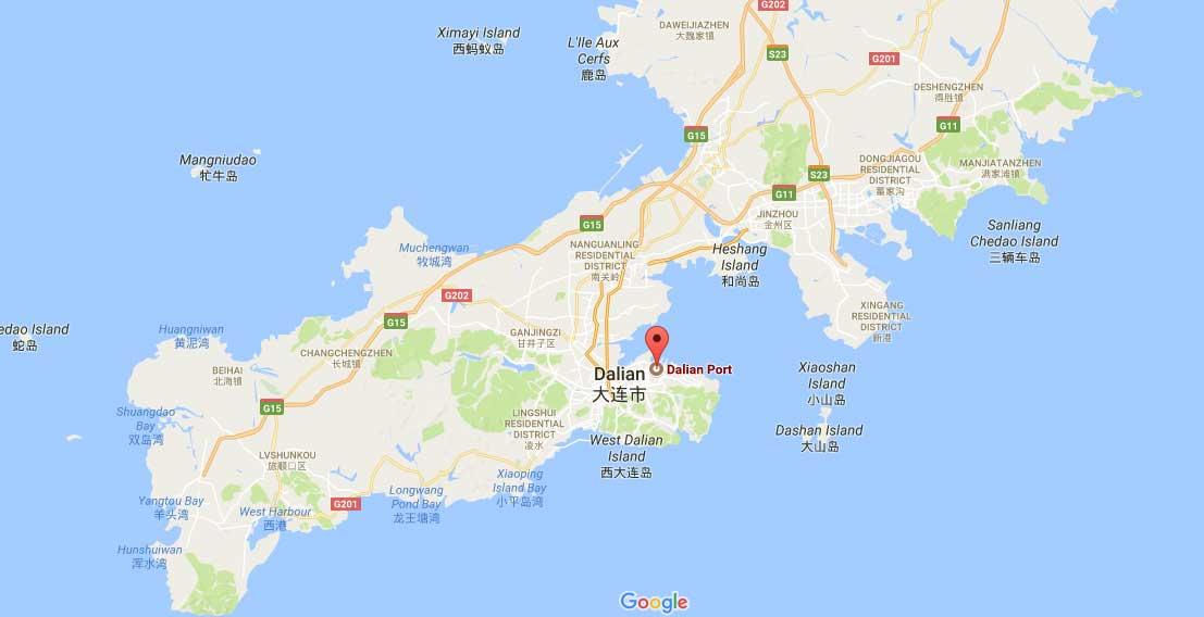 Ports Of Dalian Dalian Port Map Dalian Container Port