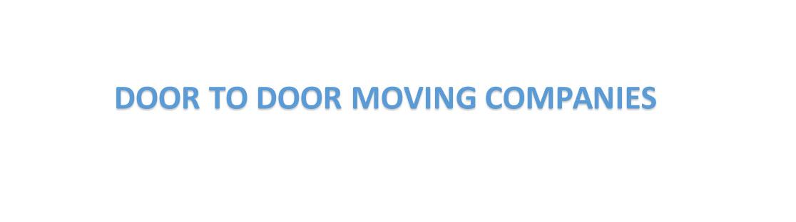 door to door moving companies