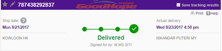 fedex China to Malaysia take how long