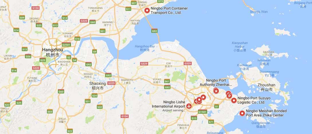Ports Of Ningbo Ningboport Map Ningbo Container Port