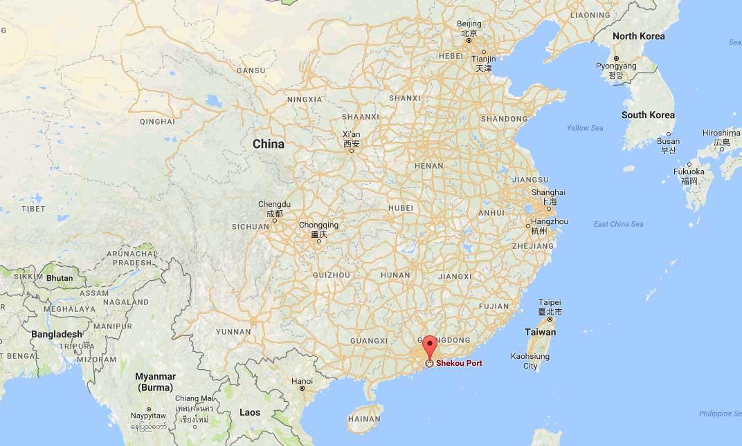 Ports Of Shekou Shekou Container Port Shekou Port Map Shekou - China to us seaports map