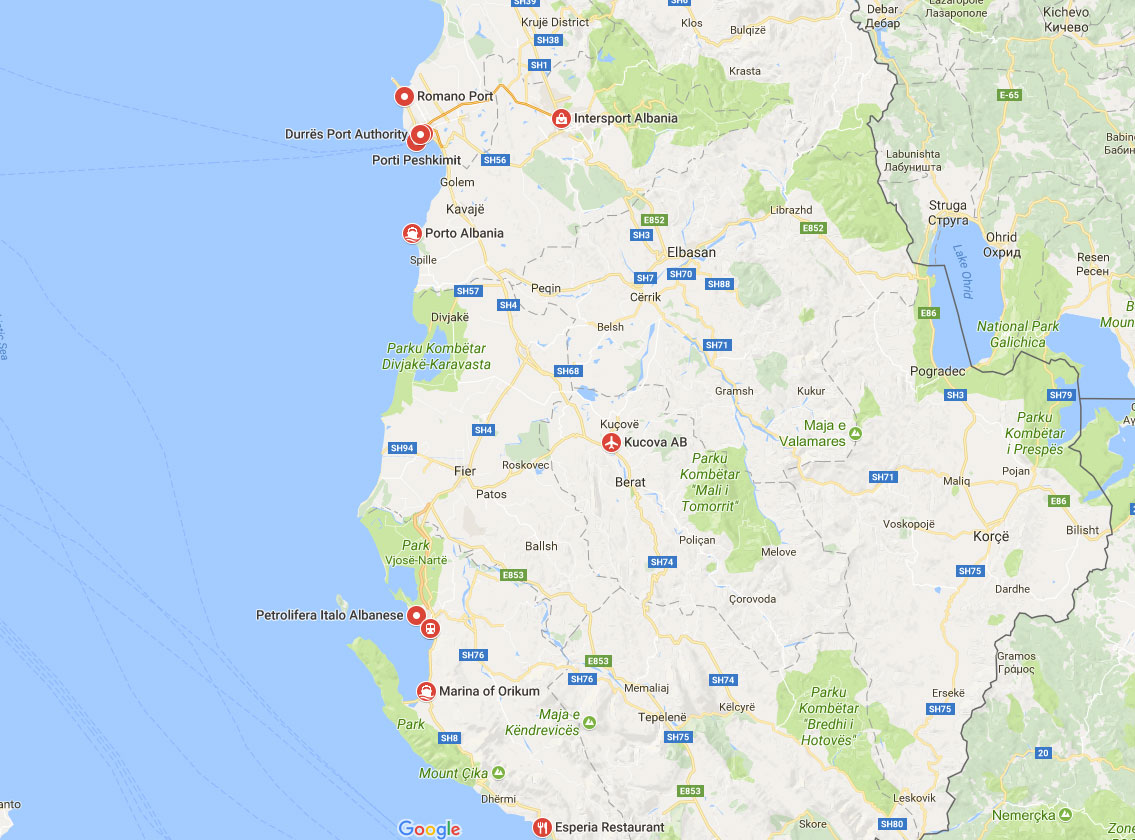 ports of albania