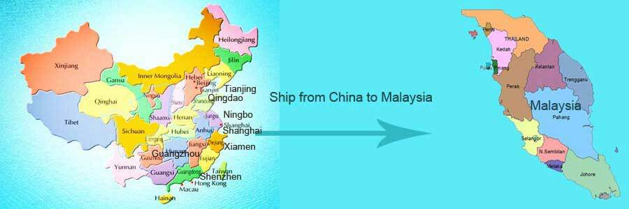 ship from china to malaysia