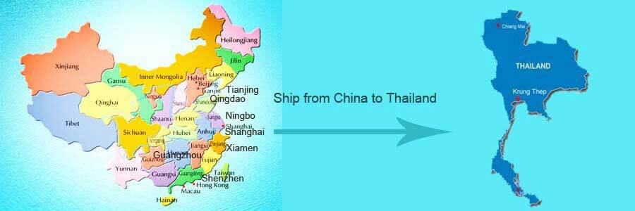 ship from china to tailand