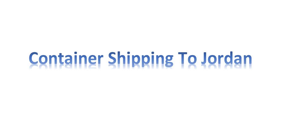 shipping from china to Jordan