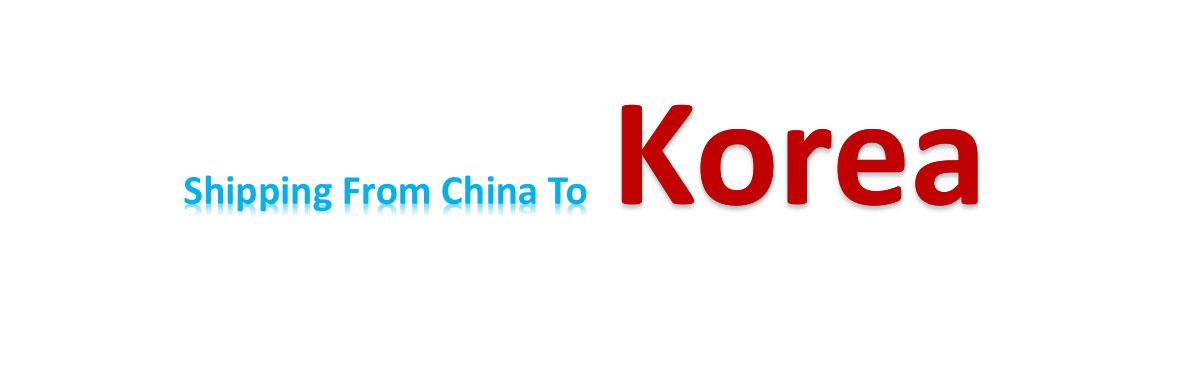 shipping from China to Korea