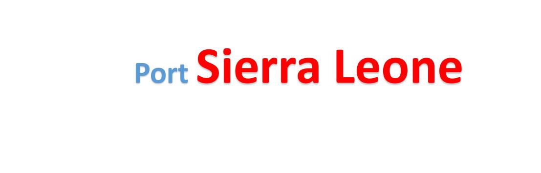 Sierra Leone sea port Container