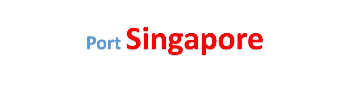 Singapore sea port Container