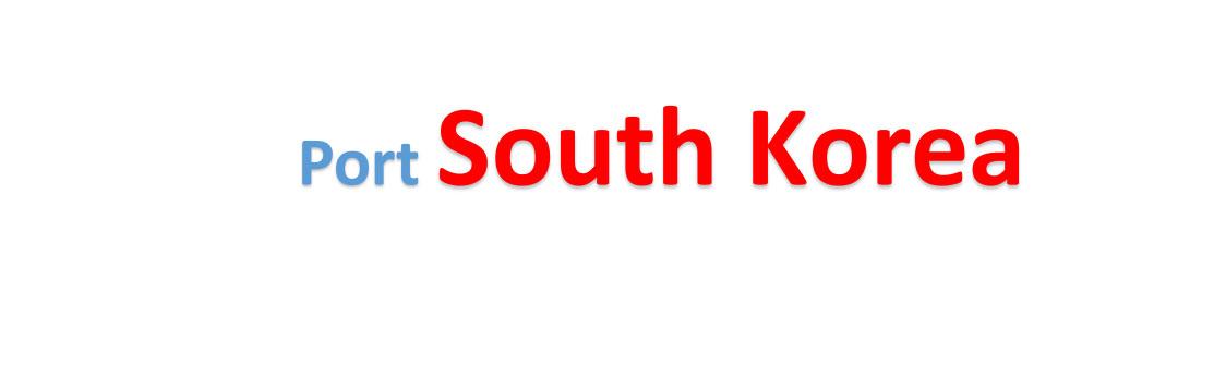 South Korea Sea port Container