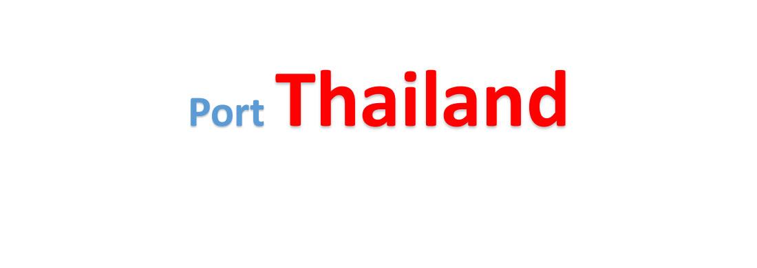 Thailand Sea port Container