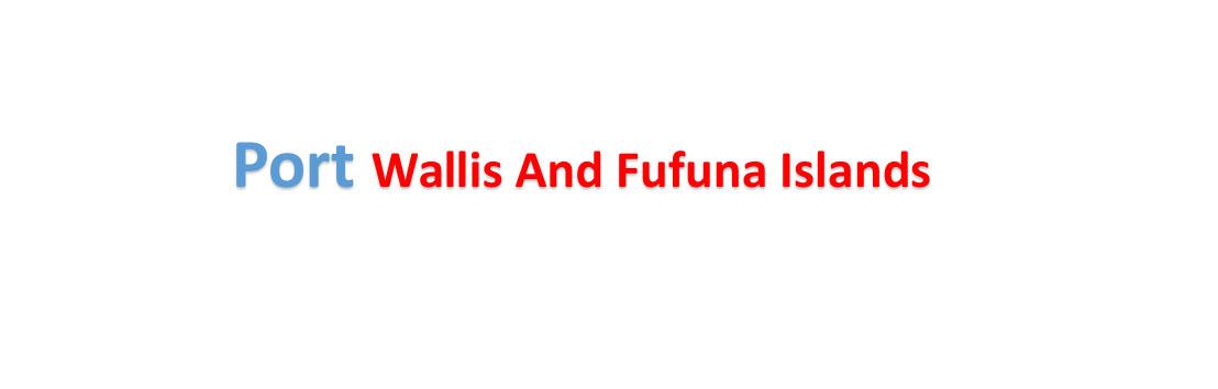 Wallis and Fufuna Islands Sea port Container